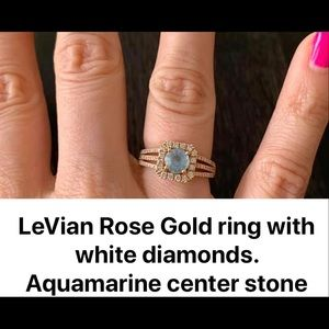 Womans Le Vian rose gold ring with white diamonds